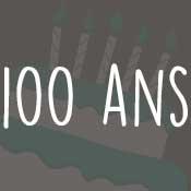Carte anniversaire 100 ans