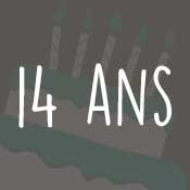 Carte anniversaire 14 ans