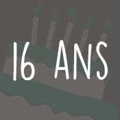 Carte anniversaire 16 ans