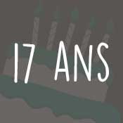 Carte anniversaire 17 ans