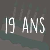 Carte anniversaire 19 ans