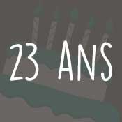 Carte anniversaire 23 ans