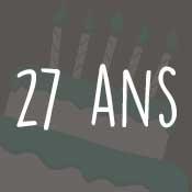 Carte anniversaire 27 ans