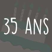 Carte anniversaire 35 ans