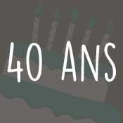Carte anniversaire 40 ans