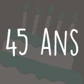 Carte anniversaire 45 ans