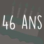 Carte anniversaire 46 ans