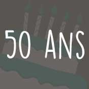Carte anniversaire 50 ans