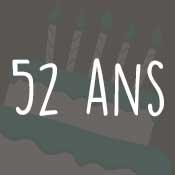 Carte anniversaire 52 ans