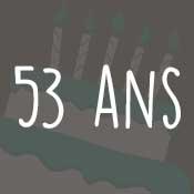 Carte anniversaire 53 ans
