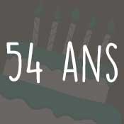 Carte anniversaire 54 ans