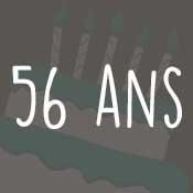 Carte anniversaire 56 ans