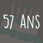 Carte anniversaire 57 ans
