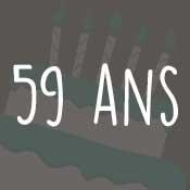 Carte anniversaire 59 ans