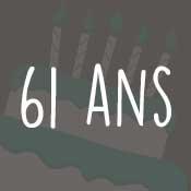 Carte anniversaire 61 ans