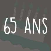 Carte anniversaire 65 ans