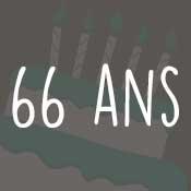 Carte anniversaire 66 ans