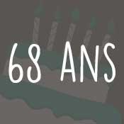 Carte anniversaire 68 ans