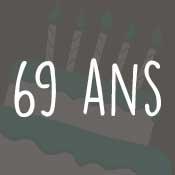 Carte anniversaire 69 ans