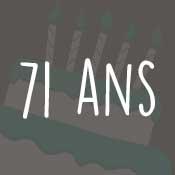 Carte anniversaire 71 ans