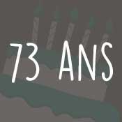 Carte anniversaire 73 ans