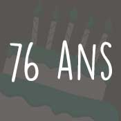 Carte anniversaire 76 ans