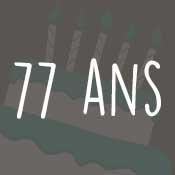 Carte anniversaire 77 ans
