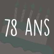 Carte anniversaire 78 ans
