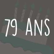 Carte anniversaire 79 ans