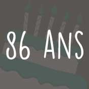 Carte anniversaire 86 ans