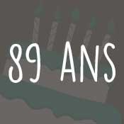 Carte anniversaire 89 ans