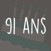 Carte anniversaire 91 ans