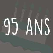 Carte anniversaire 95 ans