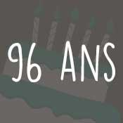 Carte anniversaire 96 ans