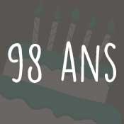 Carte anniversaire 98 ans