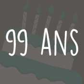 Carte anniversaire 99 ans