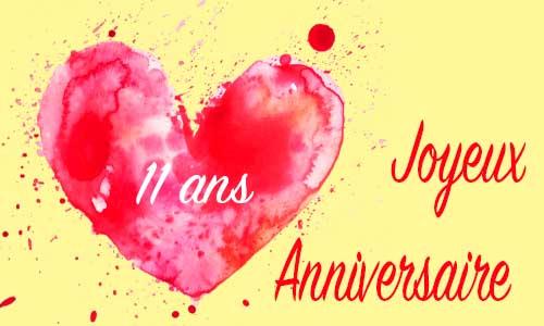 Carte Anniversaire Amour 11 Ans Ancre Coeur