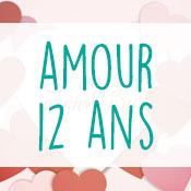 Carte anniversaire amour 12 ans