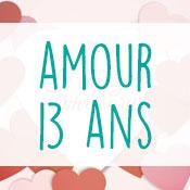 Carte anniversaire amour 13 ans