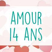Carte anniversaire amour 14 ans