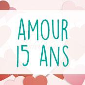 Carte anniversaire amour 15 ans