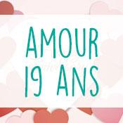 Carte anniversaire amour 19 ans