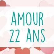 Carte anniversaire amour 22 ans