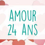 Carte anniversaire amour 24 ans