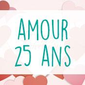 Carte anniversaire amour 25 ans