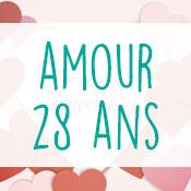 Carte anniversaire amour 28 ans