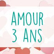 Carte anniversaire amour 3 ans