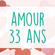 Carte anniversaire amour 33 ans