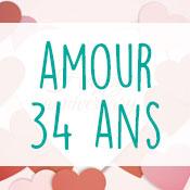 Carte anniversaire amour 34 ans