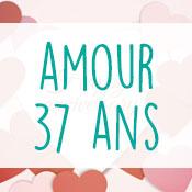 Carte anniversaire amour 37 ans